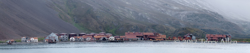 Panorama-Stromness-whaling-station,-Stromness-Bay,-South-Georgia-Island