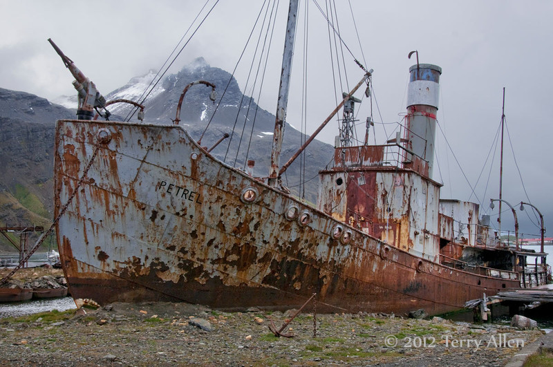 Whaling-boat-Petrel,-Grytviken,-South-Georgia-Island
