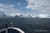 Le-Diamant-approaching-Elephant-Island,-Elephant-Island,-South-Shetland-Islands