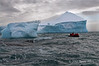Iceberg-&-zodiac-1,-Elephant-Island,-South-Shetland-Islands