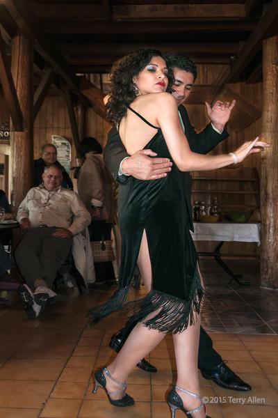 Tango time<br /> <br /> Couple performing the tango, near Ushuaia, Tierra del Fuego, Argentina
