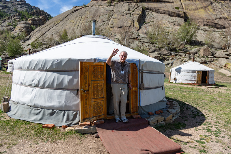 Martin visiting a Ger (or Yurt)