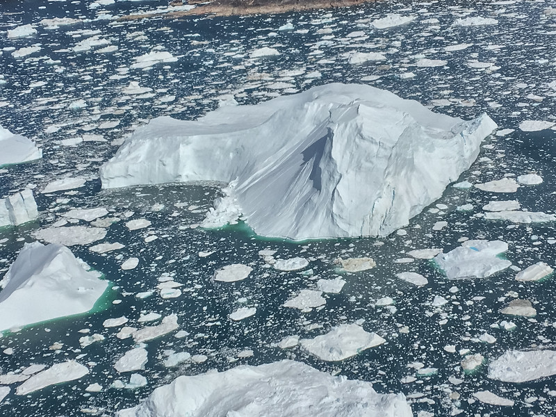 Aeriel View of Icebergs