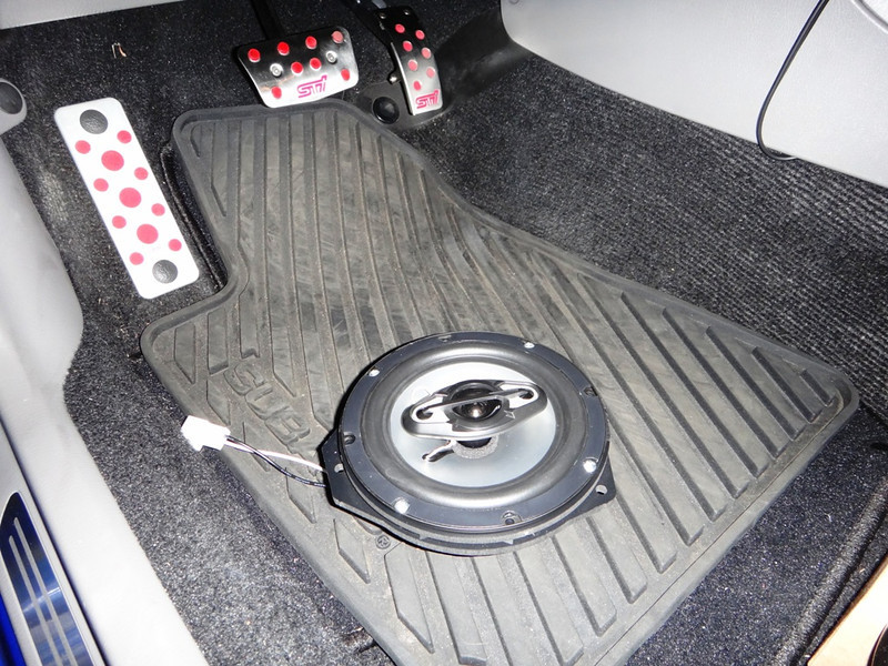 """Aftermarket speaker, wiring harness, and     Speaker adapter bracket   from <a href=""""http://www.car-speaker-adapters.com/items.php?id=SAK065""""> Car-Speaker-Adapters.com</a>    assembly displayed."""