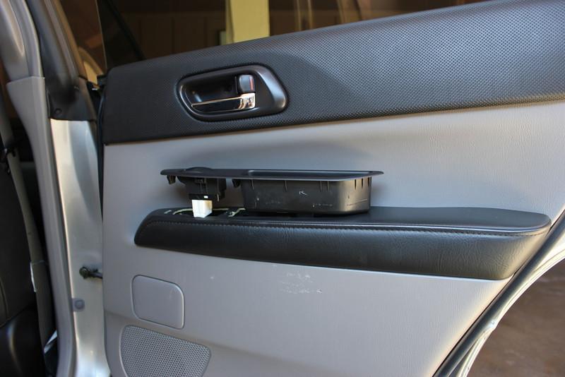 Door pull removed