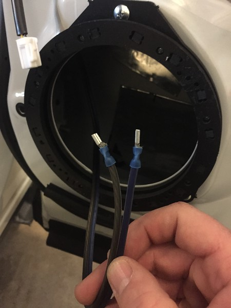 """Speaker ring   from  <a href=""""http://car-speaker-adapters.com/items.php?id=SAK065""""> Car-Speaker-Adapters.com</a>   mounted to door.  New wiring routed and new crimp on terminals installed."""