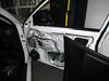 Passenger side door panel removed