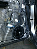 """Aftermarket speaker and speaker adapter ring   from  <a href=""""http://www.car-speaker-adapters.com/items.php?id=SAK026""""> Car-Speaker-Adapters.com</a>   installed on door"""