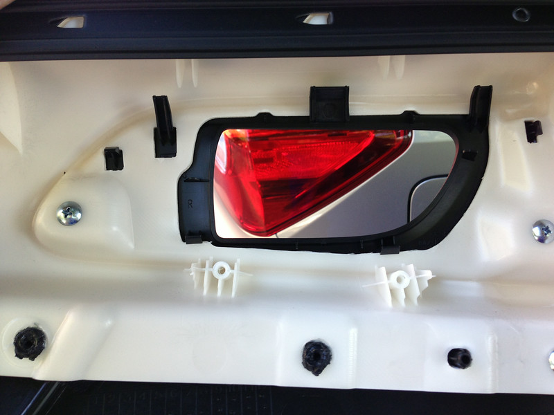 Rear side of door panel
