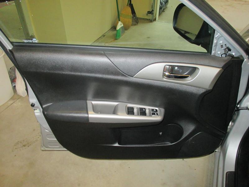 Door before speaker installation.  Sail panel removed.