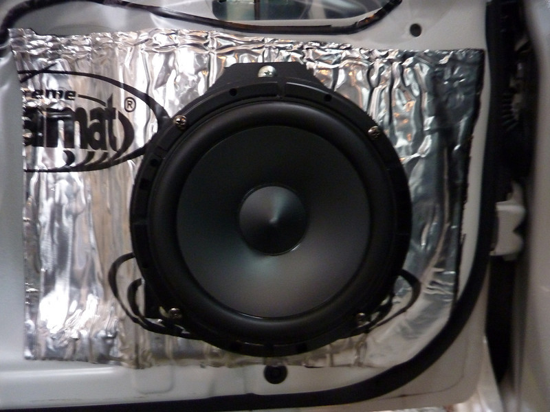 """Aftermarket speaker and Speaker adapter ring from    <a href=""""http://www.car-speaker-adapters.com/items.php?id=SAK065""""> Car-Speaker-Adapters.com</a>    installed"""