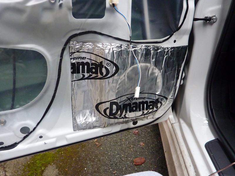 Dynamat xtreme wedge pak installed