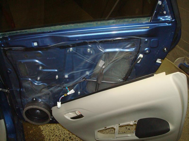 Removing rear door panel
