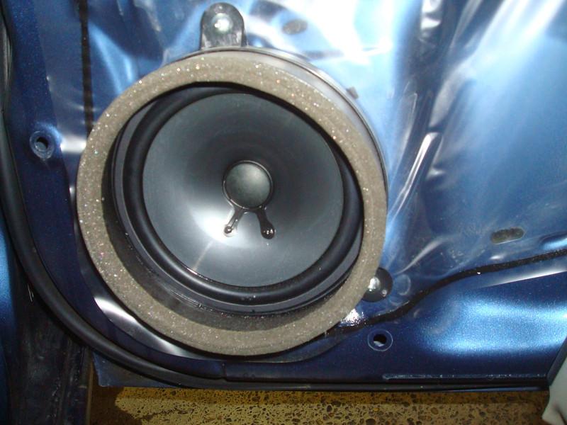 Rear factory speaker