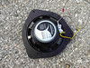 "Rear view of aftermarket speaker mounted to speaker adapter ring  from  <a href=""http://www.car-speaker-adapters.com/items.php?id=SAK022""> Car-Speaker-Adapters.com</a>"