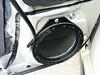 "Speaker adapter bracket  from  <a href=""http://www.car-speaker-adapters.com/items.php?id=SAK065""> Car-Speaker-Adapters.com</a>   mounted to door"