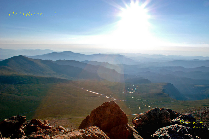 Sun Rise From Mt. Evans