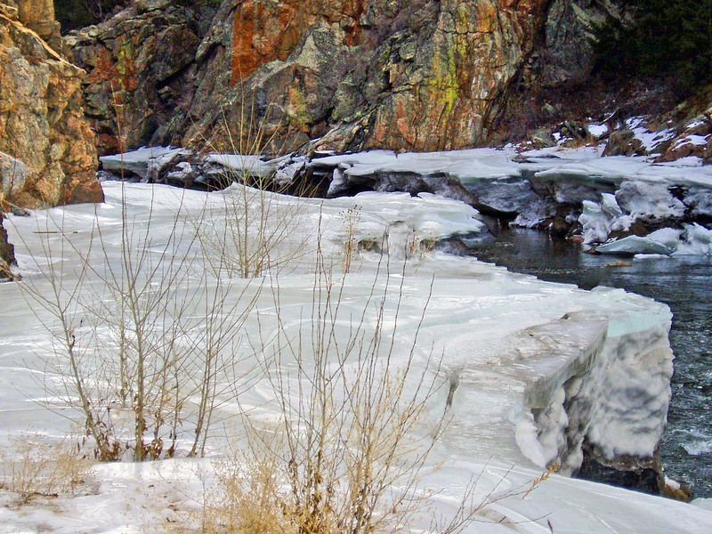 Waterton Canyon River Gorge March Ice