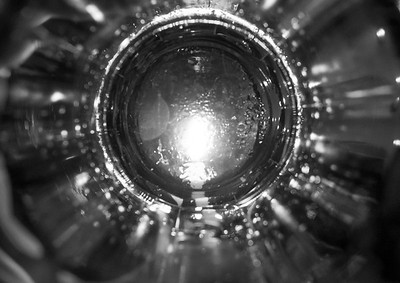 Candle through a glass