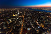 New York City at dusk from above (shot from Empire State Building), New York, USA