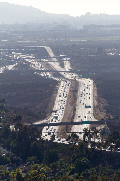Aerial view of traffic on highway - USA - California