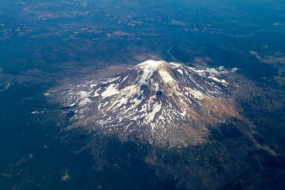 Mt. Adams, Washington, as seen from 20.000'