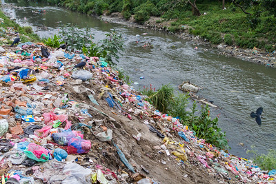Rubbish near river - Nepal