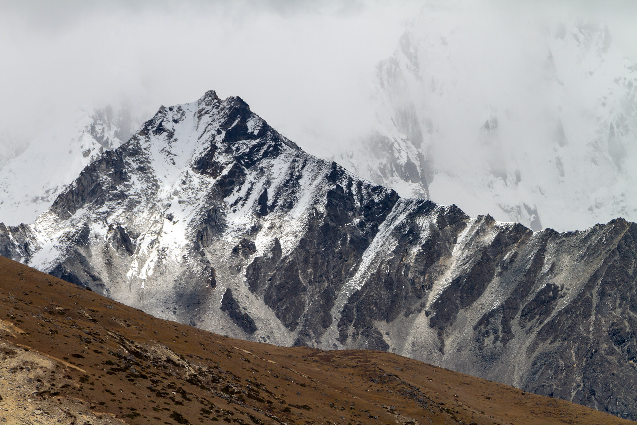 View of snowcapped mountains and cloud - Nepal