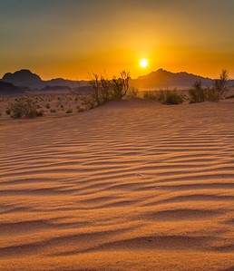 Sands At Sunset, Wadi Rum, Jordan