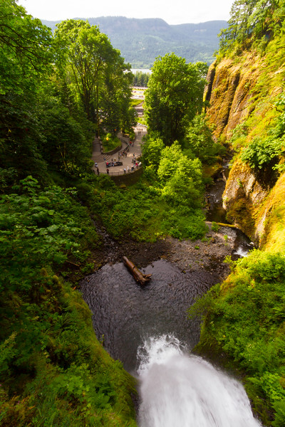 Elevated view of waterfall - USA - Oregon