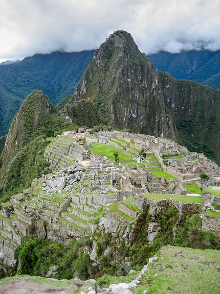 View of ruins at Machu Picchu - Cusco Region - Peru