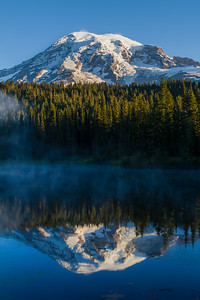 Mount Rainier And Reflection Lakes, Washington, USA
