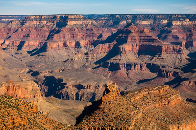 View of South Rim of  the Grand Canyon near sunset