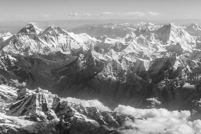 View of Himalayan Ranges - India