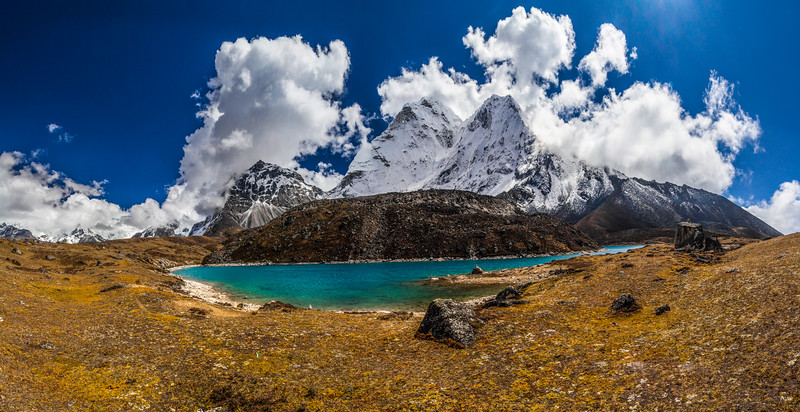 Ama Dablam and Lake
