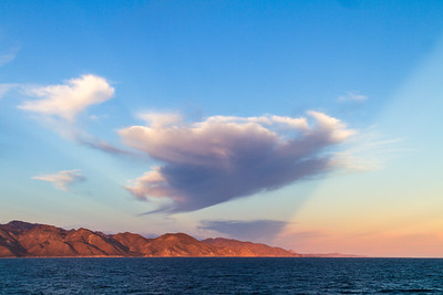 View of mountain range and Sea of Cortez - Mexico