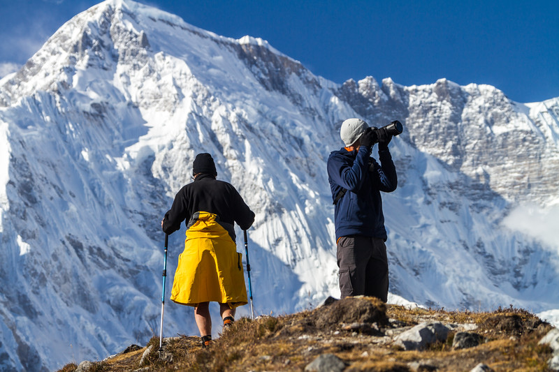 Adventure Photographer, Trekker And Cho Oyu, Gokyo, Solukhumbu, Nepal, Asia