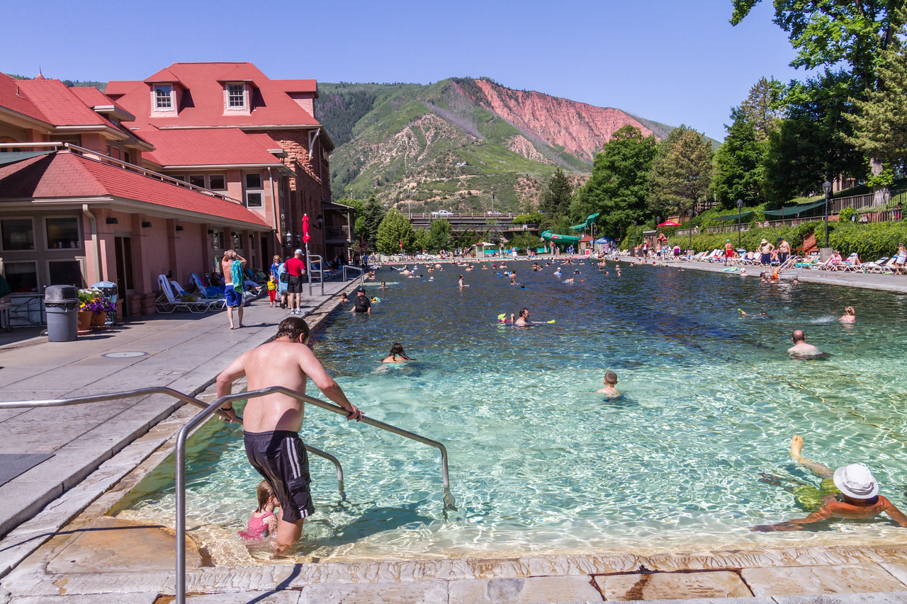People enjoying in swimming pool - USA - Colorado