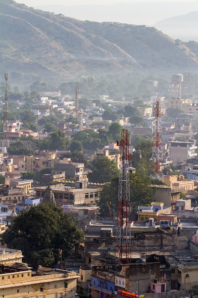 Communication towers in cityscape - Asia - India