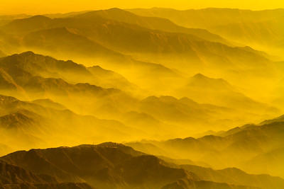 View of mountains in fog - USA - California