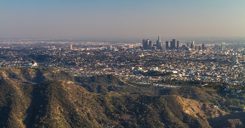 View of downtown Los Angeles cityscape - USA - California - Los Angeles