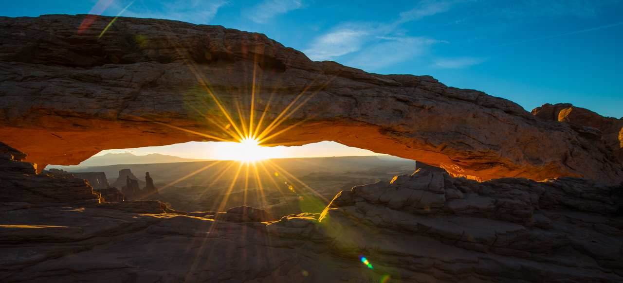Sunrise At Mesa Arch. Canyonlands National Park, Utah, USA