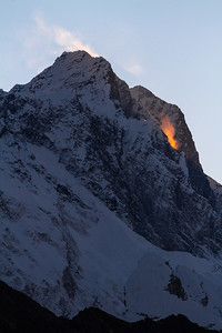 Golden Morning Spindrift Off Of Nuptse Summit, Himalayas, Nepal, Asia