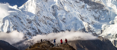 Cho Oyu And The Photographers, Sagarmatha National Park, Solukhumbu, Nepal