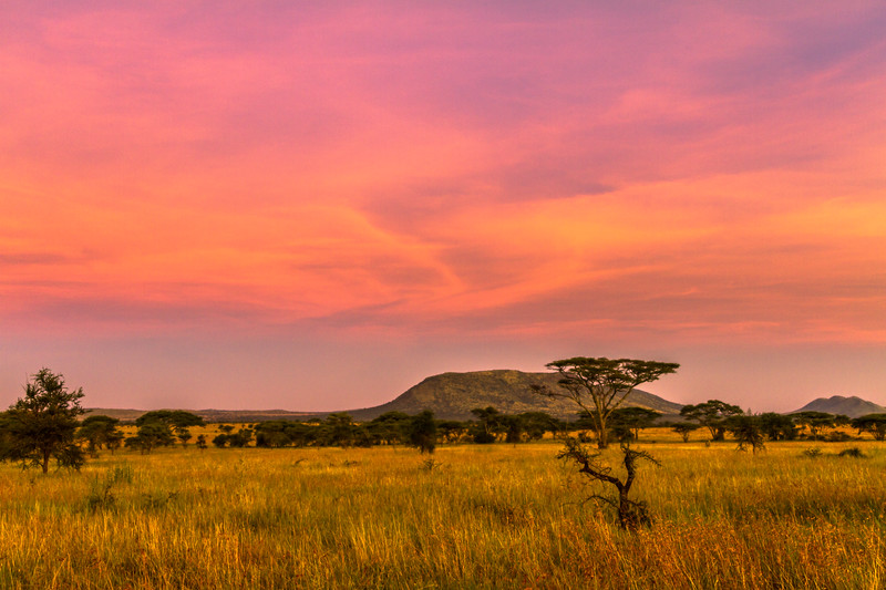 Sunset Clouds, Serengeti National Park, Tanzania