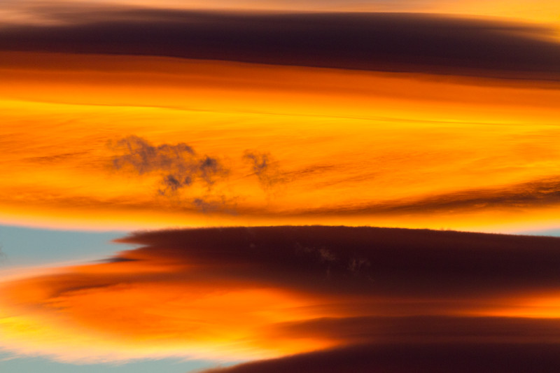 View of orange clouds at sunset - Utah - USA