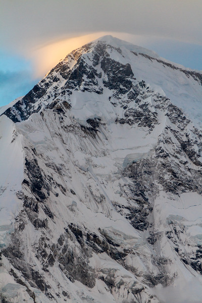 Sunlight And Clouds On Cho Oyu Summit, Gokyo, Solukhumbu, Himalayas, Nepal, Asia