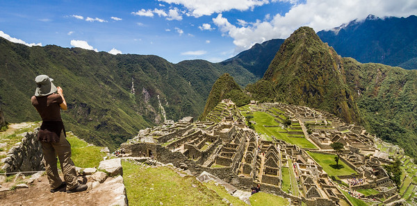 Taking Photos Of Machu Picchu, Peru