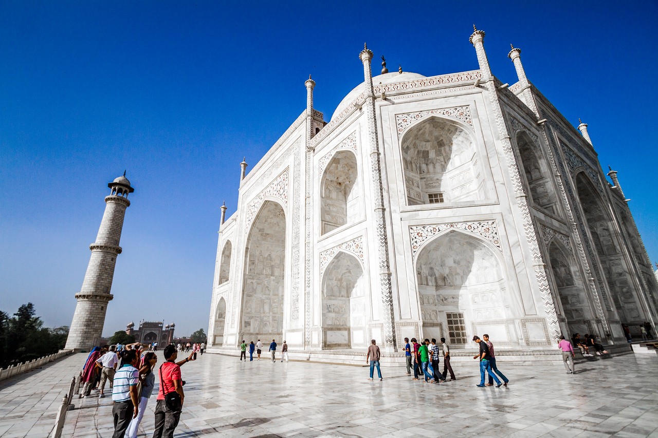 On The Dais At The Taj Mahal, Agra, India