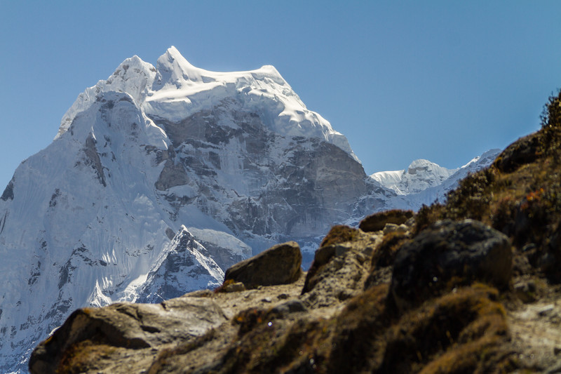 View of snowcapped mountain - Nepal